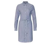 Blusenkleid mit Streifen blau