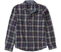 Flanellhemd dunkelblau / grün / rot / weiß
