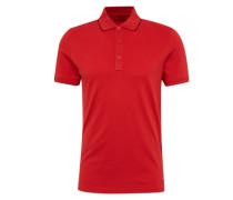 Poloshirt 'Delorian' mit farblich abgesetzter Paspel rot