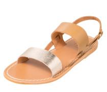 Sandale mit Metallic-Riemen cognac / rosegold