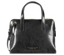 Plume Luxe Donna Handtasche Leder 25 cm schwarz