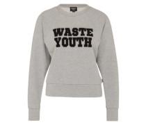 Sweatshirt 'Waste Youth' grau