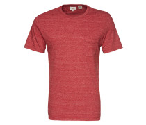 T-Shirt mit Pocket rot