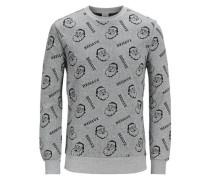 Sweatshirt Xmas grau / schwarz
