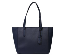 Shopper aus Lederimitat navy