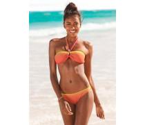 Bandeau-Bikini gelb / orange