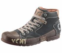 Sneaker creme / blau / dunkelbraun / weiß