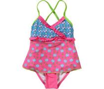 Badeanzug mit UV-Schutz mischfarben / pink