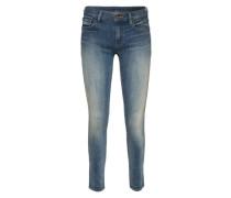 Ankle Jeans in Used Optik blau