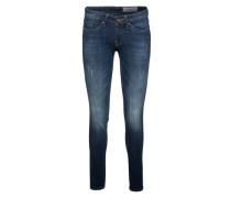 Schmale Jeans aus Baumwollmix blau