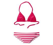 Triangel-Bikini himbeer / weiß