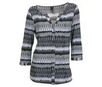 Shirtbluse grau / schwarz / weiß