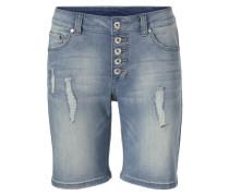 Boyfriend-Shorts blau