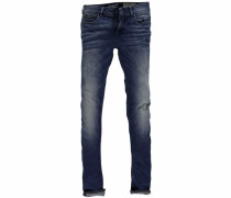 Slim-fit-Jeans »Riva« blau