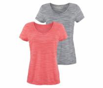 V-Shirts graumeliert / grenadine