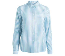 Hemd Gestreiftes langärmelig blau