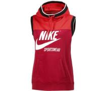 'W NSW Hoodie SL Archive' Sweatshirt Damen rot / hellrot / schwarz / weiß