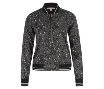 Blouson mit Animal-Print anthrazit