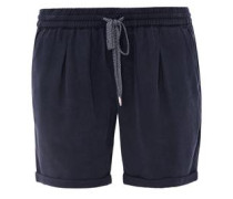 Smart Short: Samtige Chino-Shorts navy