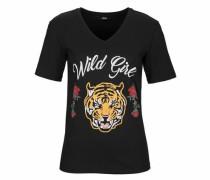 T-Shirt 'wild Girl' schwarz