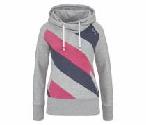 Kapuzensweatshirt dunkelblau / grau / rosa