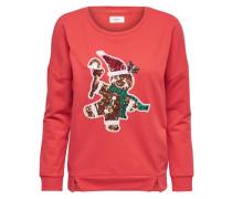 Sweatshirt Weihnachtliches rot