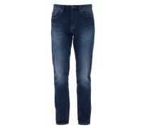 Bequeme Stretch-Jeans blau