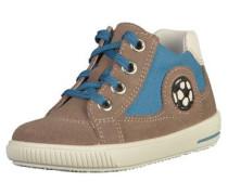 Sneaker dunkelbeige / himmelblau