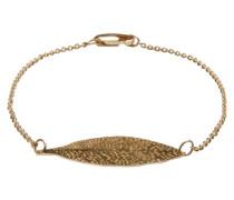 Blattanhänger-Armband gold