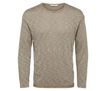 T-Shirt mit langen Ärmeln und Rundhalsausschnitt sand / hellbeige