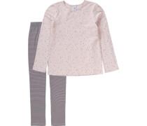 Schlafanzug für Mädchen schlammfarben / altrosa
