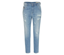 'Fayza-Evo' Jeans Tapered Fit 857F blau