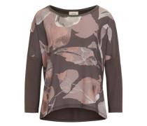Shirt mit floralem Druck dunkelgrau / rosa