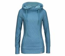 Kapuzensweatshirt himmelblau / hellblau / weiß