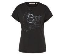 T-Shirt 'Ladies' schwarz