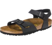 'Rio' schmal Sandaletten schwarz