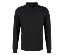Poloshirt aus Baumwoll-Piqué schwarz