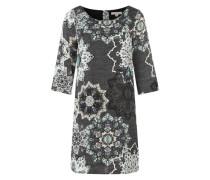 Kleid mit floralem Muster blau / mischfarben