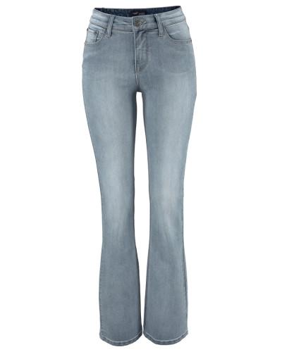 High-waist-Jeans 'Bootcut' blue denim