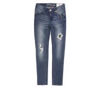 Hose Jeans Girls Skinny MID Mädchen Kinder blau / dunkelblau