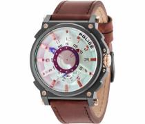 Quarzuhr 'compass Pl15048Jsu.04' braun / gold / silber