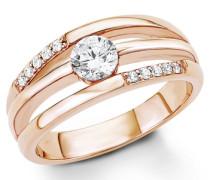 Silberring: Ring mit Zirkonia rosegold