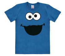 """T-Shirt """"Krümmelmonster"""" blau"""