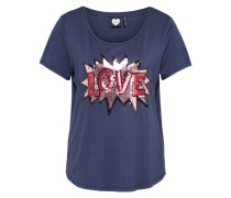 'love Pop' T-Shirt nachtblau