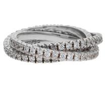 3 teiliger Fingerring 925 Silber Brilliance Triple Esrg91885B silber