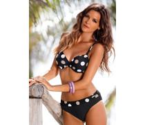 Bügel-Bikini beige / schwarz