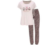 Süßer Cupcake Pyjama beige