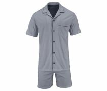 Wirk Pyjama kurz Shorty im Krawatten-Allover Muster