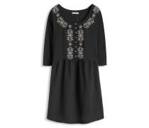 Kleid mit Kimono-Optik schwarz
