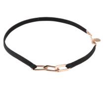 Wickelarmband mit Kettendetail rosé / schwarz